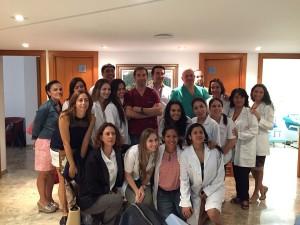 El Dr Gonzalez Arranz, acude un año mas como profesor  en la XVIII edición del Master de medicina estética de las Islas Baleares