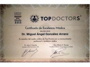 Dr. Gonzalez Arranz miembro de Top Doctors