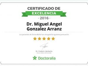 Excelencia en la pagina web de Doctoralia